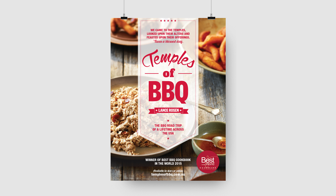 Lance Rosens new cookbook \'Temples of BBQ\' won the best BBQ cookbook in the world - 2015