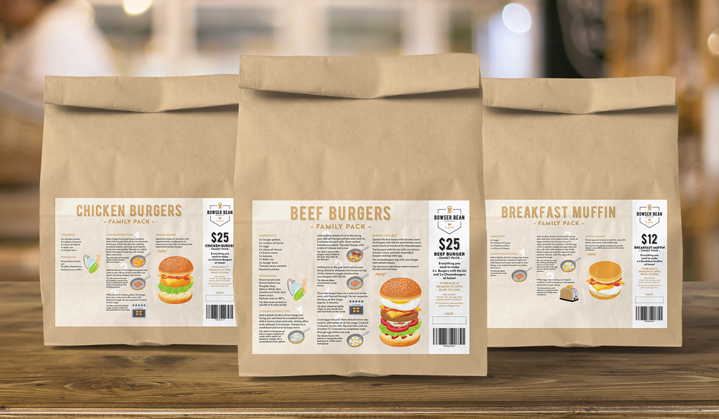 Make your Own Burgers - Packaging